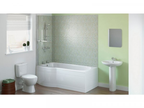 Eliana Maple Showerbath Suite inc. Ash Taps - Left Hand