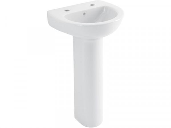 Lavari Maple 2 Tap Hole Cloakroom Basin with Full Pedestal