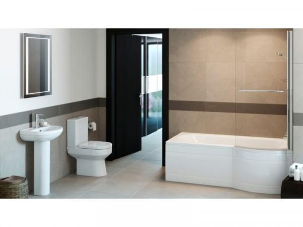 Eliana Mulberry Showerbath Suite inc. Ivy Taps - Left Hand