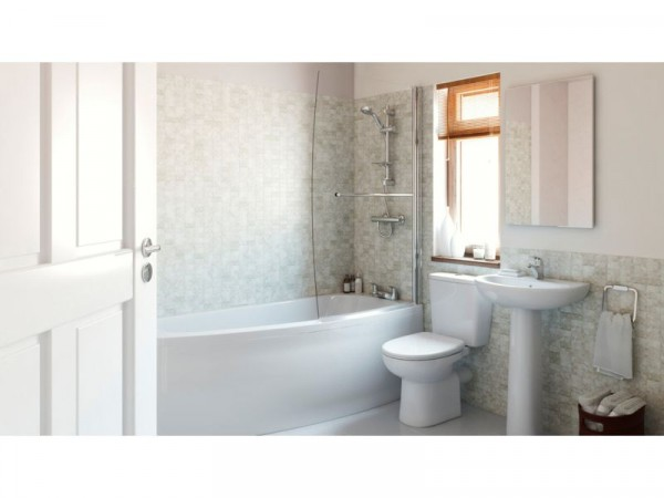 Eliana Minispace Showerbath Suite inc Ammi Taps - Left Hand