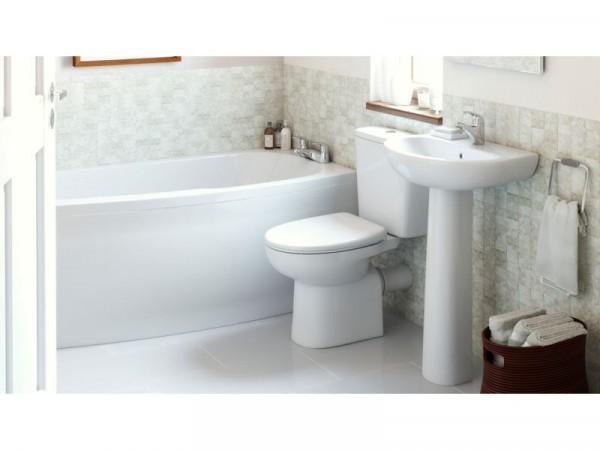 Eliana Minispace Upgrade Bath Suite inc Ammi Taps Right Hand