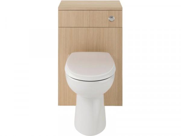 Lavari Ferne WC Unit Oak with Toilet and Seat