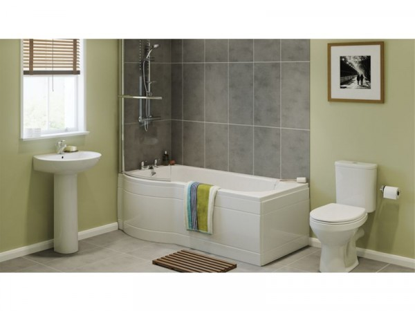 Eliana Caraway Showerbath Suite inc Ammi Taps - Left Hand