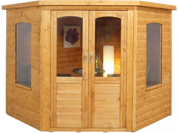 Forest Cranbourne Wooden Corner Summerhouse - 7 x 7ft