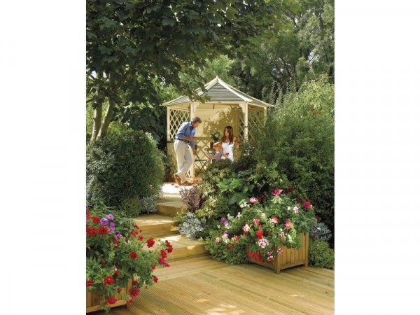 Gainsborough Hexagonal Garden Gazebo - Natural