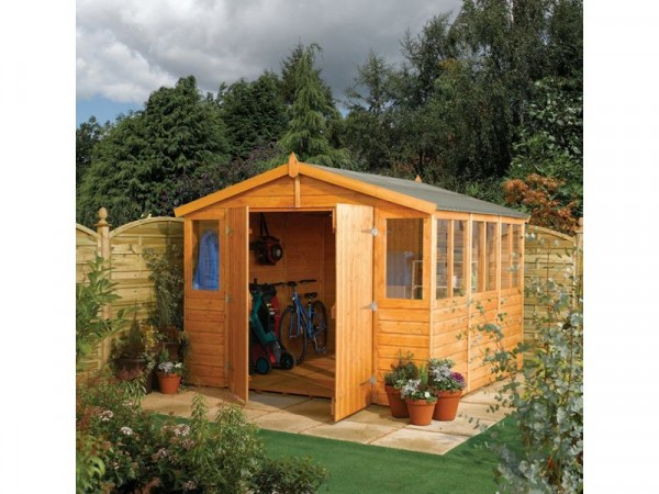 Rowlinson Shiplap Wooden Workshop - 9 x 15ft
