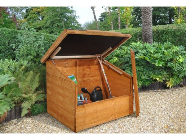 GARDEN CHEST WITH GAS ARMS