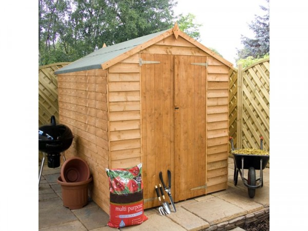 Mercia Garden Overlap Double Door Wooden Shed 8 x 6ft