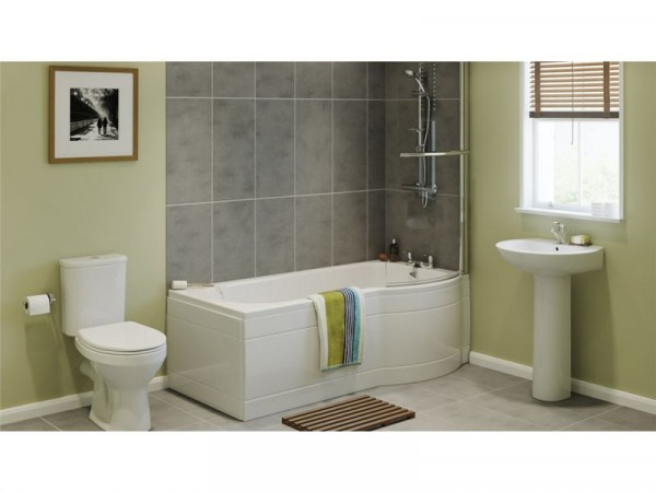 Eliana Caraway Showerbath Suite inc Ammi Taps - Right Hand