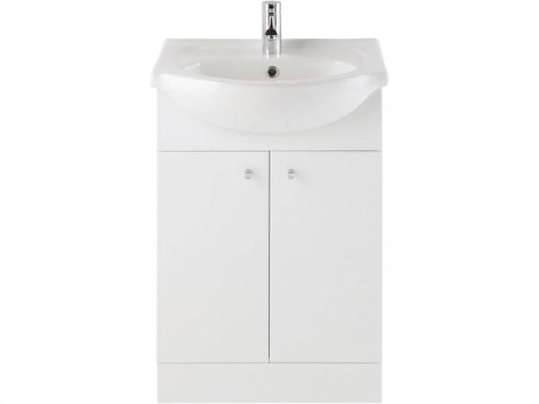 Eliana Ferne 550mm White Gloss Vanity Unit and Basin