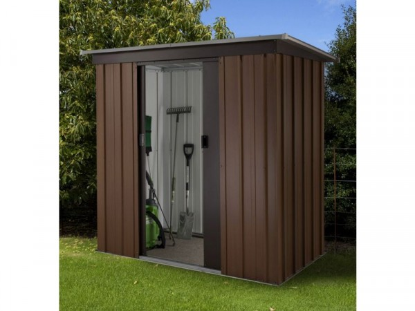Yardmaster Woodgrain Tall Metal Shed - 6 x 4ft