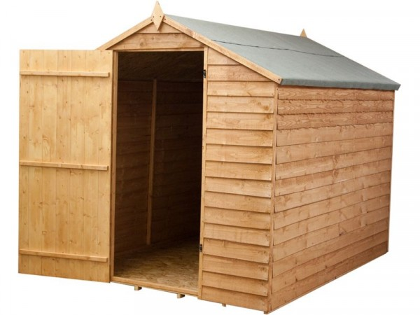 Mercia Garden Overlap Wooden Apex Shed 8 x 6ft