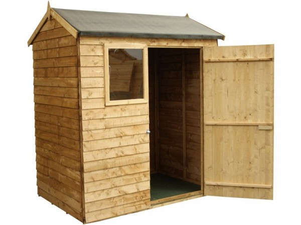 Mercia Garden Overlap Wooden Reverse Apex Shed 6 x 4ft