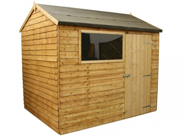 Mercia Garden Overlap Wooden Reverse Apex Shed 8 x 6ft