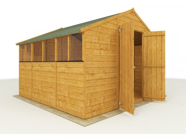 BillyOh Wooden Tongue and Groove Apex Workshop 10 x 10ft