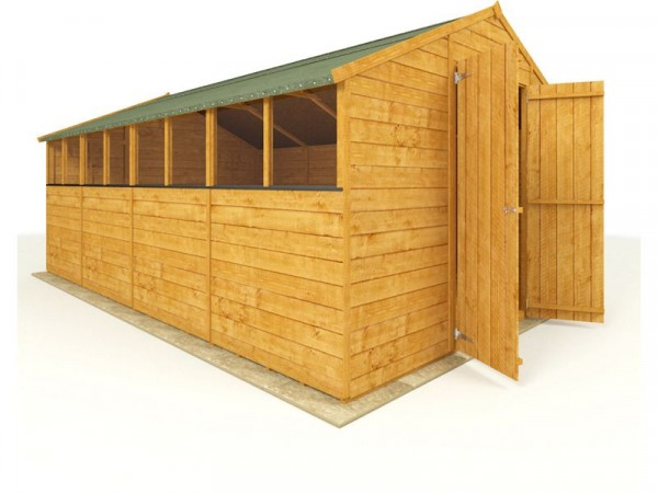 BillyOh Wooden Tongue and Groove Apex Workshop 16 x 10ft