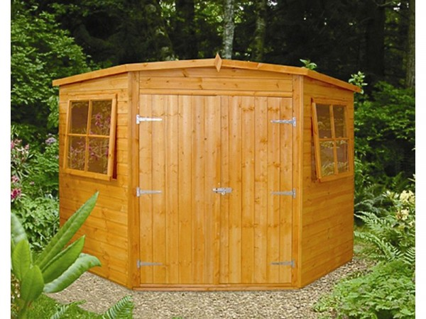 Homewood Shiplap Wooden Corner Shed - 7 x 7ft
