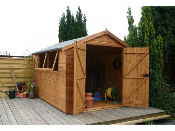 Mercia Premium Shiplap Wooden Double Door Shed - 10 x 8ft