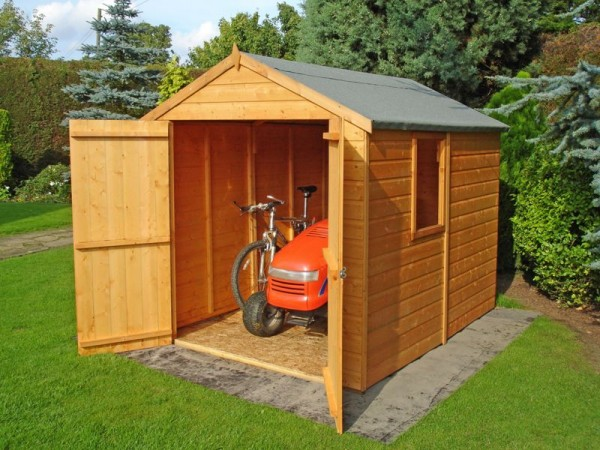 Homewood Shiplap Wooden Double Door Shed - 8 x 6ft