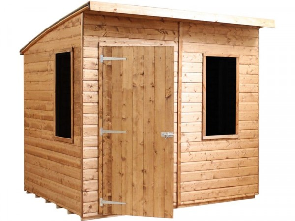8X6 SHIPLAP CURVED ROOF AERO SHED
