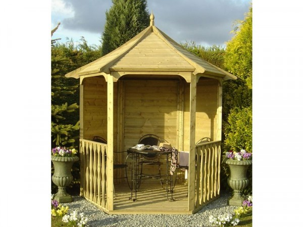Homewood Pressure Treated Hexagonal Arbour 6 x 7ft