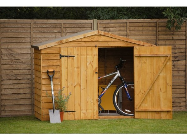 Larch Lap Wood Overlap Bike Garden Store