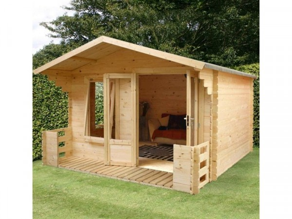 3.3 X 3.7M LOG CABIN WITH VERANDA