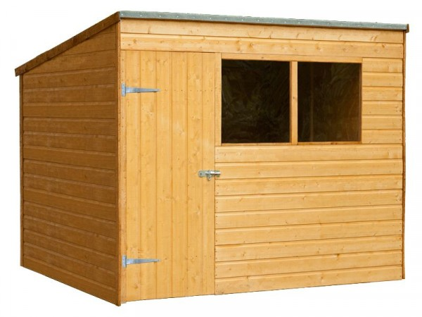 6 X8 SHIPLAP PENT WOODEN SHED DD