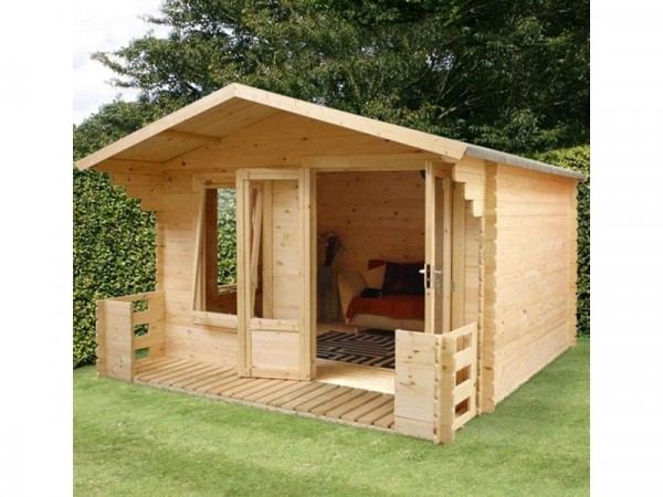 3.3 X 3.4M LOG CABIN WITH VERANDA