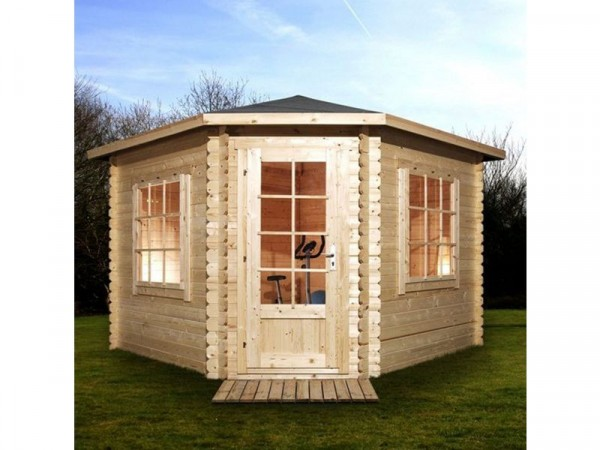 3M X 3M CORNER CABIN28MM SINGLE GLAZED