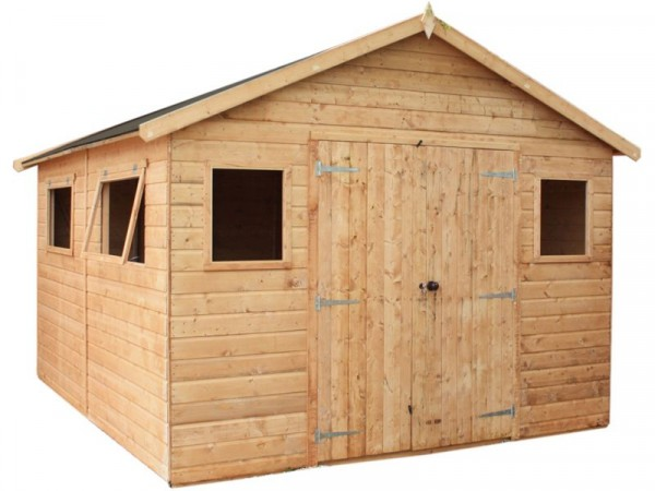 Mercia Shiplap Wooden Workshop - 12 x 10ft