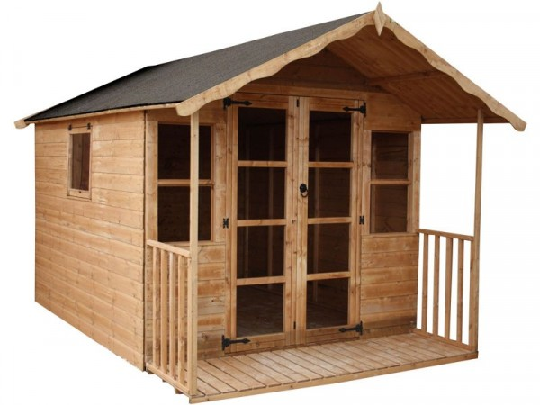 Mercia Premier Wooden Summer House with Veranda 12 x 8ft
