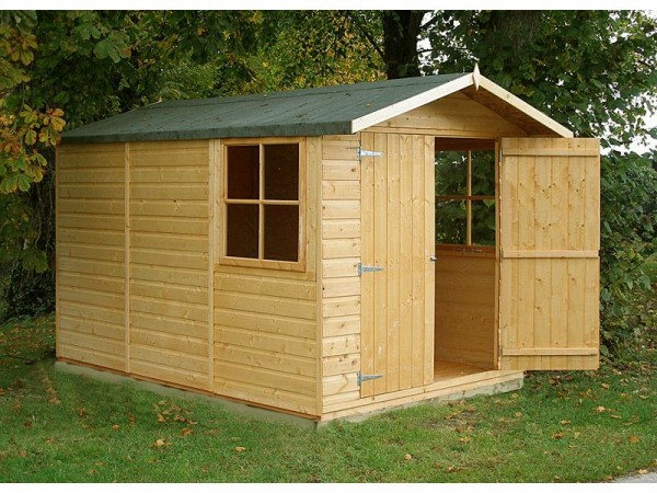 Homewood Guernsey Wooden 7 x 10ft Shiplap Double Door Shed