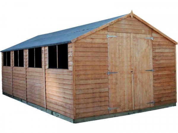 Mercia Wooden 10 x 20ft Overlap Workshop Shed