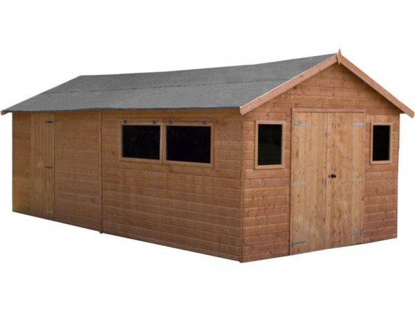 Mercia Shiplap Wooden Workshop Shed - 20 x 10ft