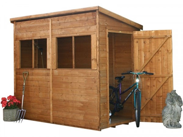 Mercia Shiplap Wooden Shed - 8 x 4ft