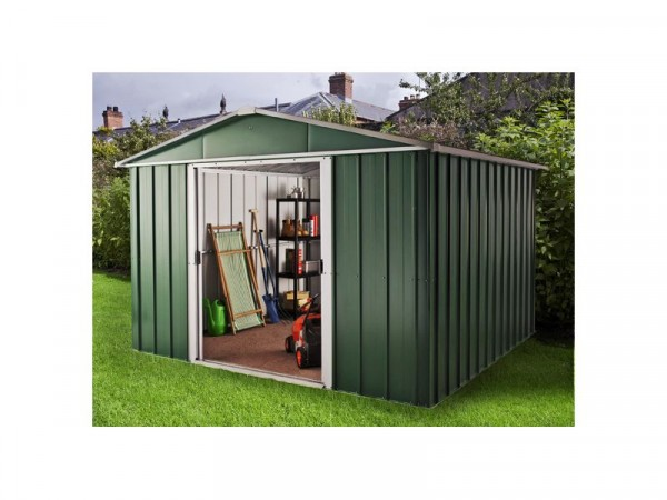 Hercules Deluxe Metal Shed and Floor Frame - 10 x 13ft