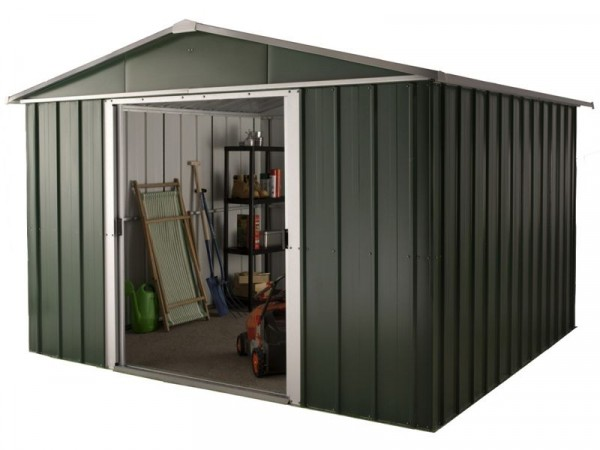 Hercules Deluxe Metal Shed and Floor Frame - 10 x 8ft