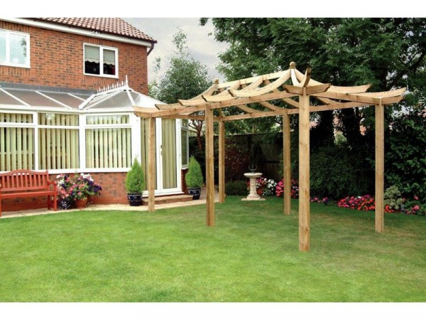 Grange Fencing Dragon Pergola Extended with Long Posts