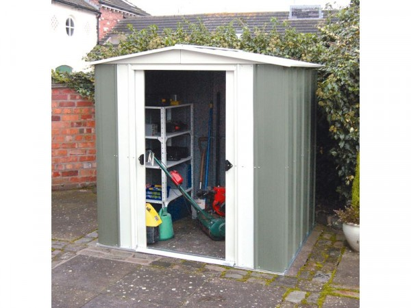 8X6 GREENVALE METAL APEX SHED