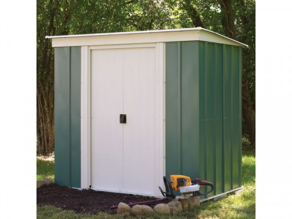 6X4 GREENVALE METAL PENT SHED
