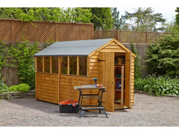 10X6 OVERLAP APEX SHED DOUBLE DOOR