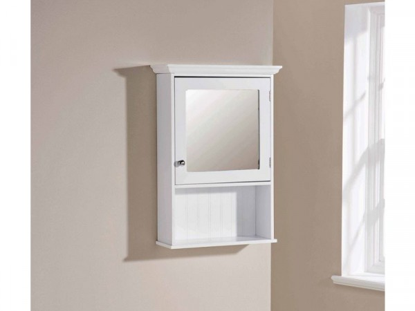Colonial Mirror Cabinet - White