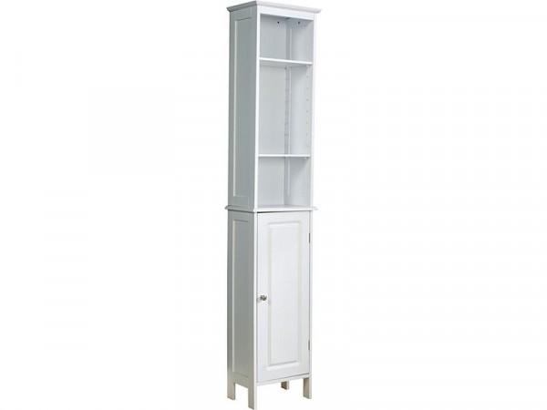 Chatsworth Tall Bathroom Cupboard - White