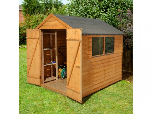 Larchlap Wooden Overlap Apex Shed 8 x 6ft