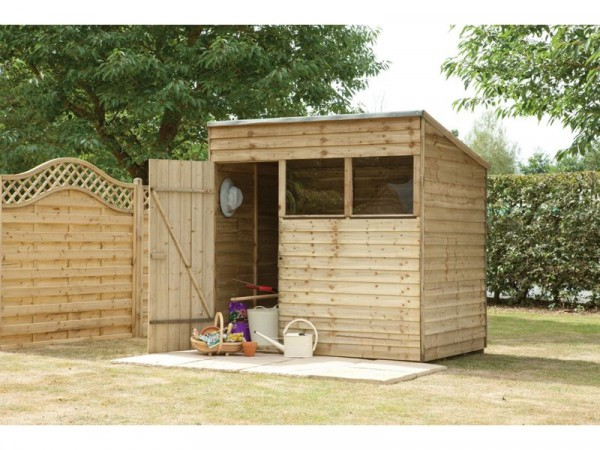 7X5 PRESSURE TREATED OVERLAP PENT SHED