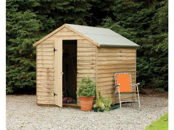 8X6 OVERLAP APEX SECURITY SHED