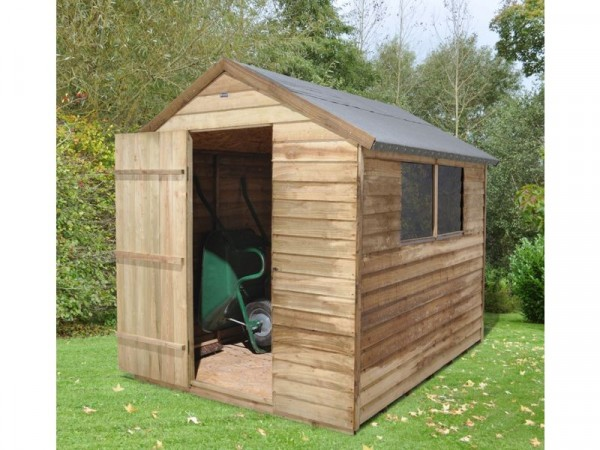 8X6 PRESSURE TREATED OVERLAP APEX SHED