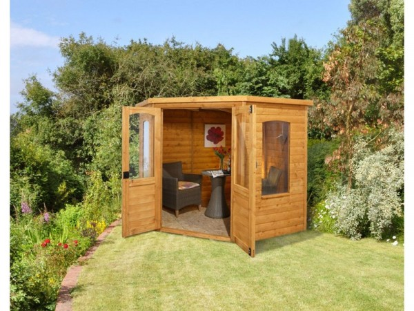 Forest Cranborne Wooden Corner Summerhouse - 7 x 7ft