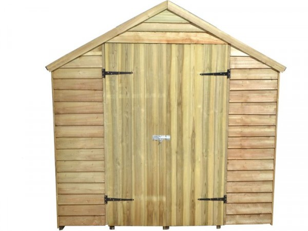 Forest Larchlap Overlap Wooden Shed - 7 x 5ft